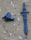 DARK ELVES EXECUTIONERS/BLACK GUARD SHEATHED SWORD AND ARM