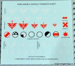 DARK ANGEL VEHICLE DECAL SHEET
