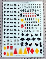 SPACE WOLF OLD STYLE DECAL SHEET