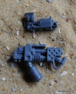 SPACE WOLVES VENERABLE DREAD STORM BOLTER & FLAMER