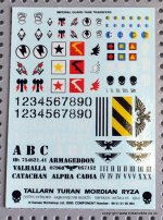 IMPERIAL TANK DECAL SHEET
