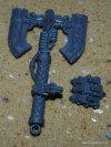 SPACE WOLVES VENERABLE DREAD RUNIC AXE AND HAND